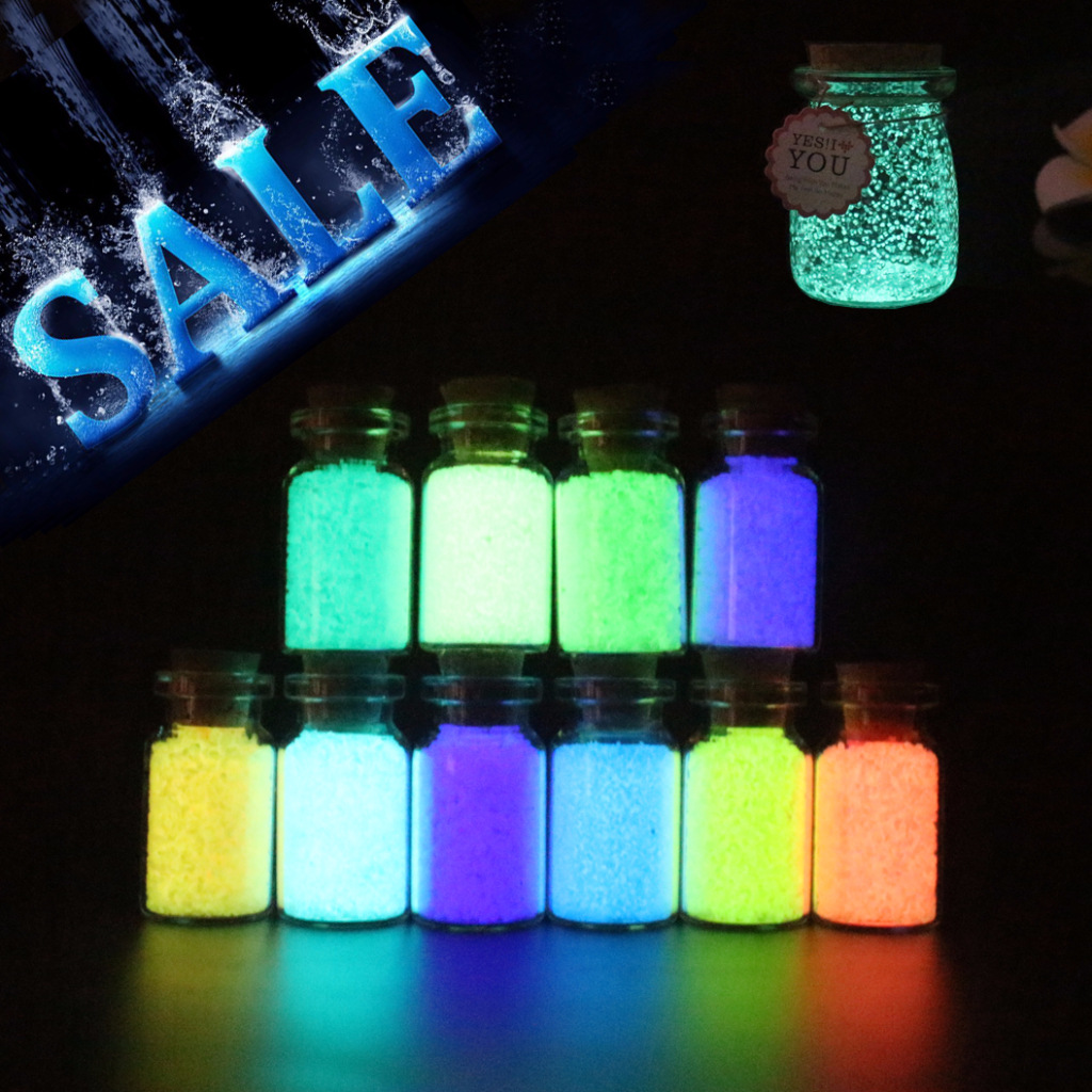 Glow In The Dark Particle 10g Luminous Party DIY Bright Paint Star Wishing Bottle Fluorescent Particles Toys