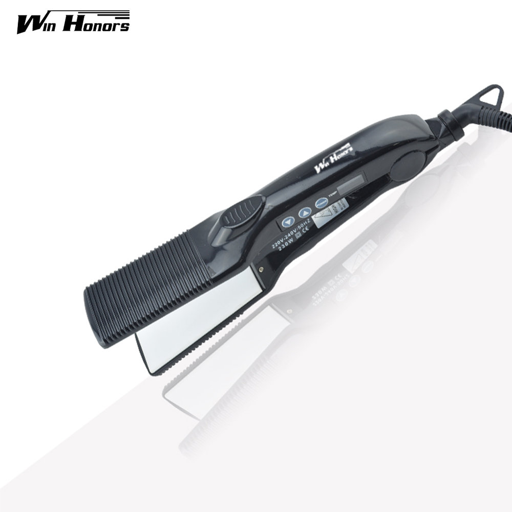 100-240V Ceramic Protection Hair Straightener Iron Lcd Hai Flat irons Display Product Styling Tools C-8128 2018 new profesional hair straightener ceramic titanium plates straightening irons lcd display flat iron styling tools
