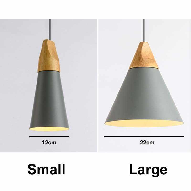 E27 деревянный Лофт подвесной светильник Современные скандинавские подвесные светильники современный скандинавский подвесной светильник Lamparas De Techo Colgante современный
