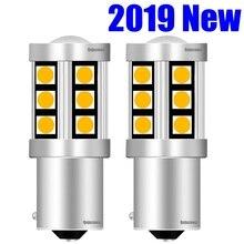 2 шт. 1156PY 7507 PY21W BAU15S высокое качество 3030 светодиодный Автомобильный задний указатель поворота авто передний указатель поворота светильник Янтарный Желтый