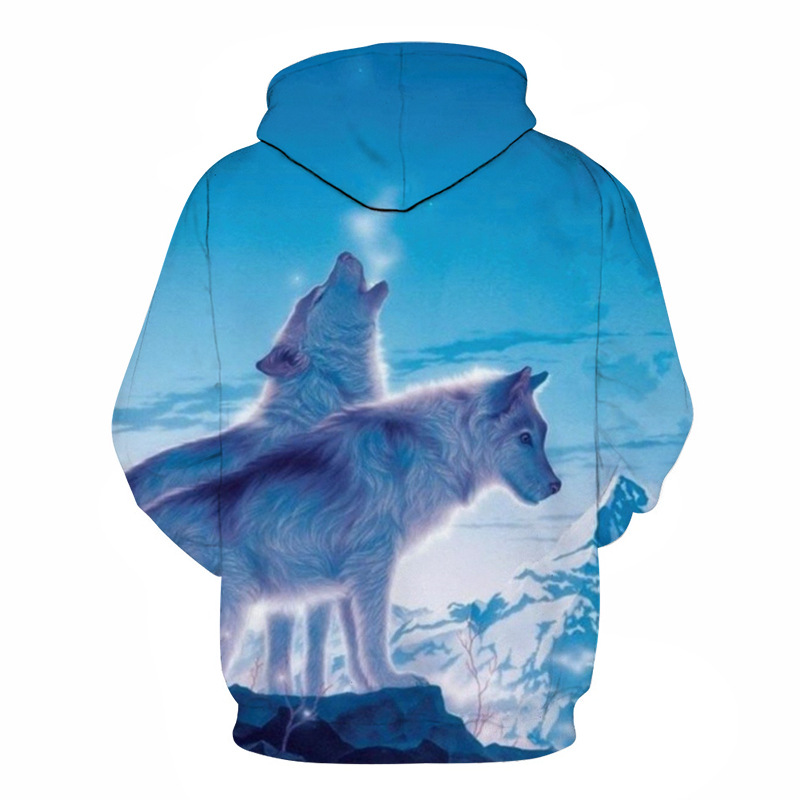 Wolf Printed Hoodies Men 3D Hoodies Brand Sweatshirts Boy Jackets Quality Pullover Fashion Tracksuits Animal Street wear Out Coat 51