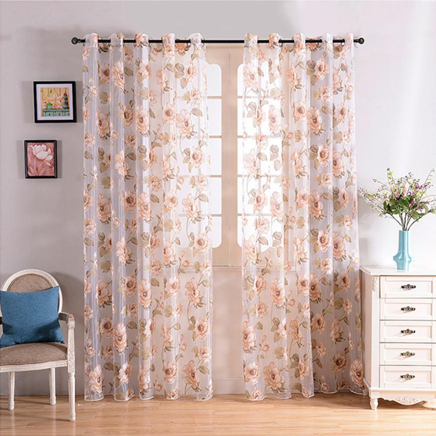 2017 NEW 1 PCS Pure Color Tulle Door Window Curtain Drape Panel Sheer Scarf Valances N15