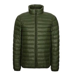 Image 4 - NewBang Brang 男性のダウンジャケット超軽量ダウンジャケットの男性は襟冬羽ウインドブレーカー軽量暖かい薄型パーカー