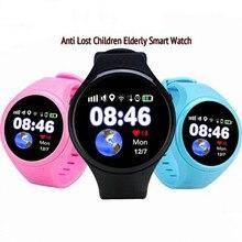 Novo Relógio Inteligente Bluetooth SmartWatch Do Miúdo Da Menina do Menino Das Crianças de posicionamento GPS Do Telefone SOS monitoramento Suporte do Cartão SIM Para IOS Android