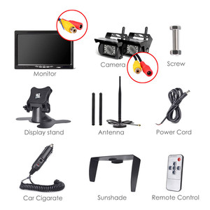 Image 5 - Автомобильный видеорегистратор Accfly, двойной беспроводной монитор, камера заднего вида для грузовиков, автобусов, фургонов, кемперов, трейлеров