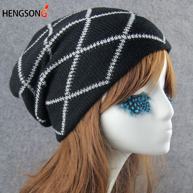 2017 New Winter Skullies Hat Beanie Caps Men Women Knitted Hats Outerdoor Sports Running Caps Male Wind Hip Hop Caps 832583