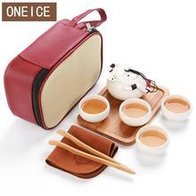 9 STÜCK Tee-Set Chinesische Reise Keramik Tragbare Teetasse Handtuch Lila Sand teekanne Tee-tablett Kung Fu Tee-Set Becher der Teezeremonie Teekanne