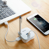 Baseus Multifunctional PC Expansion Dock For Notebook 2 Port USB 3 0 Charger TF SD Reader