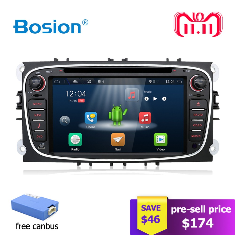 2 din Android 7.1 Quad 4 Core Car DVD Player GPS Navi USB RDS SD For Ford Focus Mondeo Galaxy with Audio Radio Stereo Head Unit