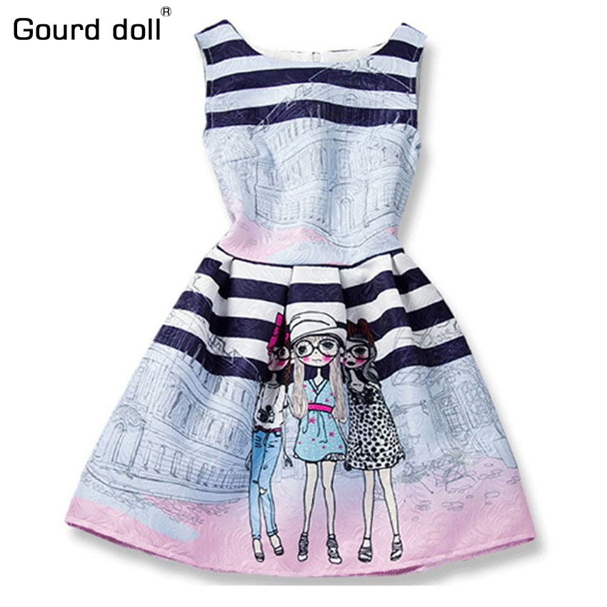 Print Girls Winter Dress 2016 Girl Children Clothing Brand Clothes Kids Dress for Princess Holiday Party Wedding Toddler Autumn 3 12year wedding dress baby kids girl clothes children clothing girls cute princess party dress winter dresseses causal dress