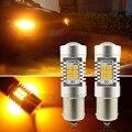 1 Par Blanco Ámbar 1156 Bau15s PY21W 7507 21-SMD LED Trasera LED Reverse Turn Signal Indicator Luces de la Esquina de Estacionamiento de Copia de seguridad