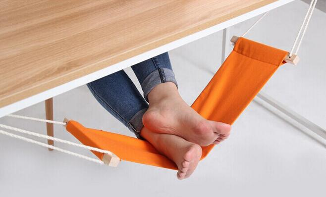 Portable Mini Foot Rest Stand Desk Feet Hammock Easy to Disassemble Home Study Library Comfortable Indoor hcs hcs hc077awine26