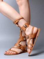 2017 New Genuine Leather Gladiator Cross Lace Up Women Sandals Sexy Open Women Sandal Flats Shoes Women Size 34 41