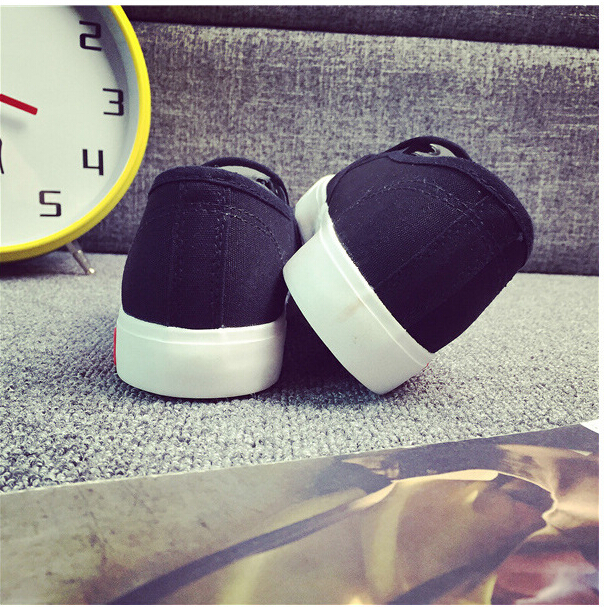 Free Shipping Spring and Autumn Men Canvas Shoes High Quality Fashion Casual Shoes Low Top Brand Single Shoes Thick Sole 7583 -  -  (2) -  -
