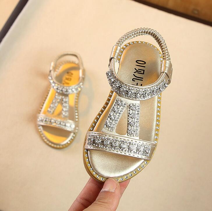 Kids Sandals New Summer Girls Sandals Bright Baby Boys Girl Toddler Sweet Princess Gold Silver Children Beach ShoeKids Sandals New Summer Girls Sandals Bright Baby Boys Girl Toddler Sweet Princess Gold Silver Children Beach Shoe