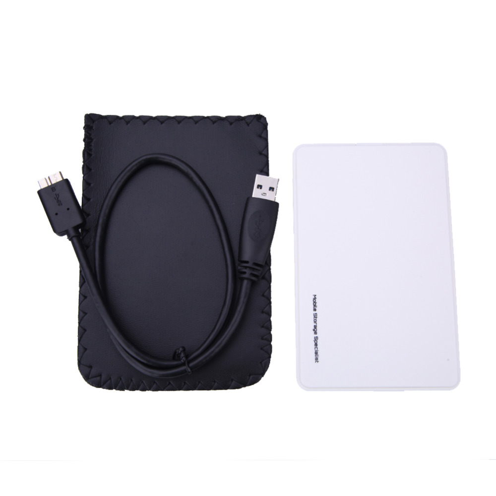 White Hard Disk Box SATAUSB 3.0 HDD Hard Drive External Enclosure Case 2.5 inch SATA HDD Mobile Disk Box Enclosure Case