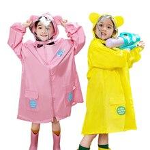 все цены на Kocotree 3-16 Year Old Kids Cartoon Animal Style Waterproof Polyester Raincoat Children Tour Rainwear Yellow Student Raincoat онлайн