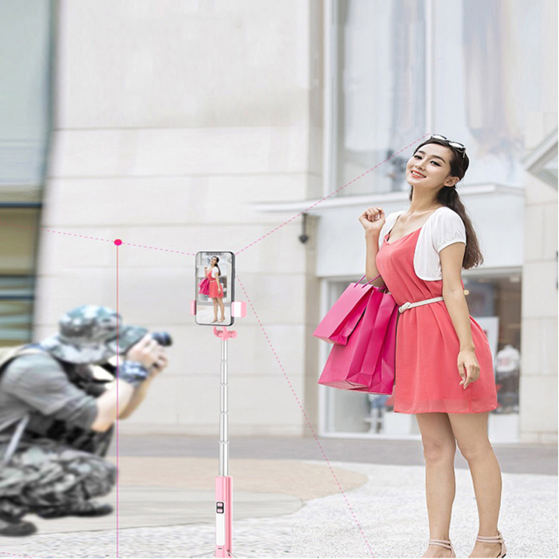 1 6M Bluetooth selfie stick with tripod integrated multi function self timer artifact mobile phone fill light live bracket in Selfie Sticks from Consumer Electronics