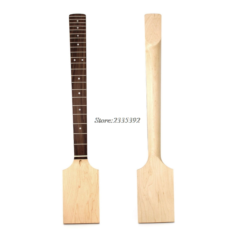 1Pc Necks Electric Guitar 22 Fret Neck Paddle Head Maple Wood Bolt Unfinished цена