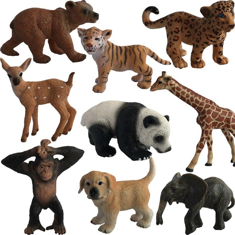Toys Action-Figure Animal-Model Orangutan Bear-Ornaments Panada Plastic Tiger Lion Elephant