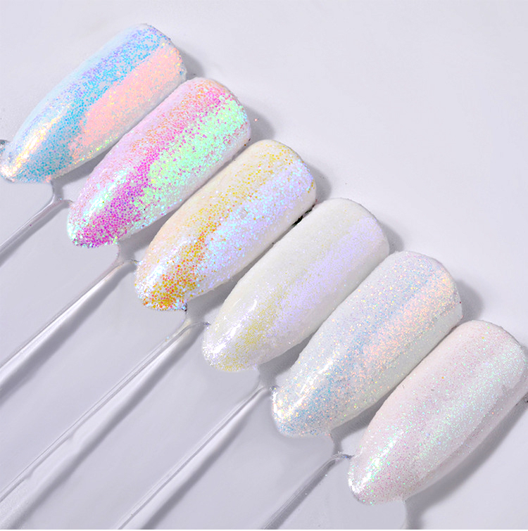 6 Box Sets Professional Nails Decorations Tools White Nail Glitter Powder Shining Dust Art In From Beauty Health On Aliexpress