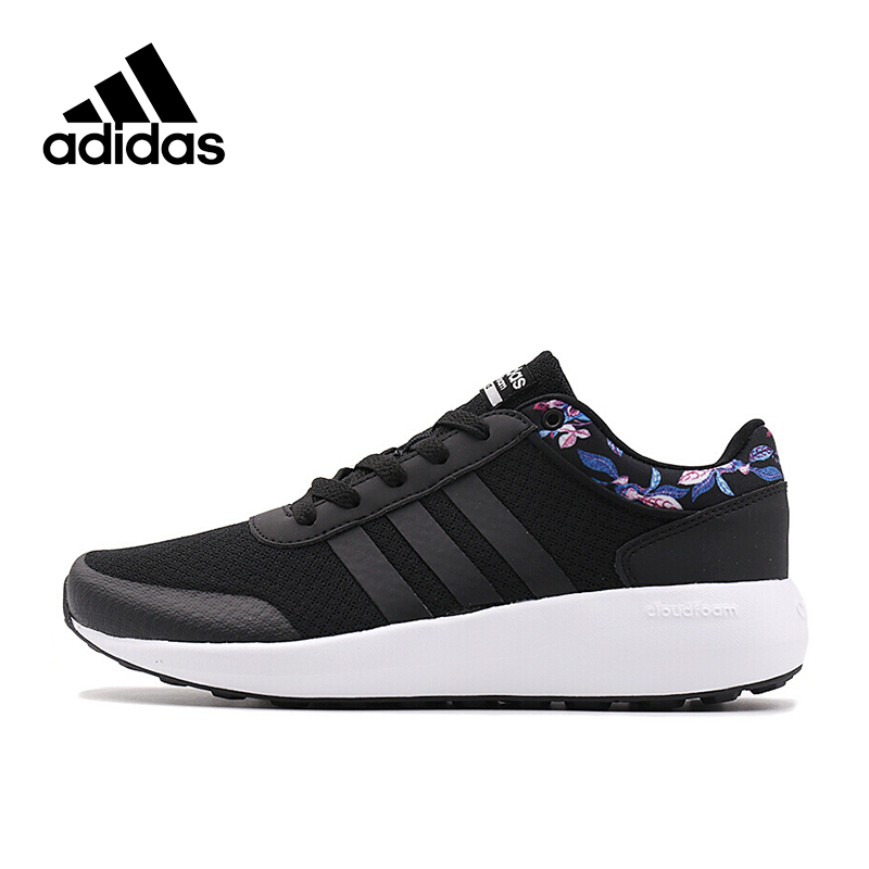 Adidas Air Max Women Sneakers Breathable Trainers Lace-up Low Cotton Fabric Black Flower Adidas Women Sports Shoes