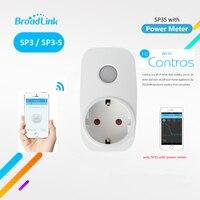 Broadlink SP3S EU Contros Smart Wireless WiFi Socket Power Plug 16A 3500w With Energy Meter IOS