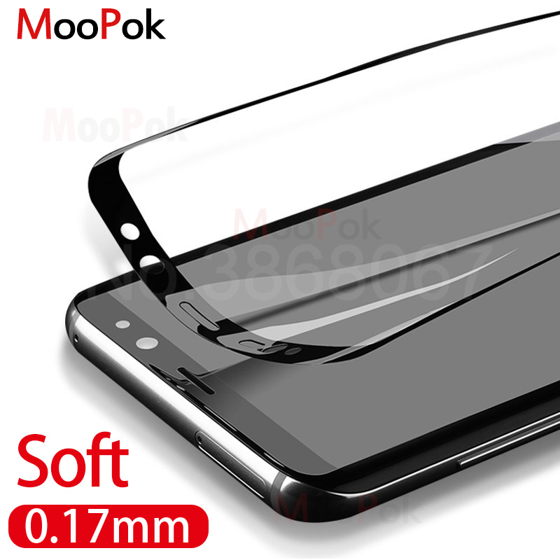 MooPok 3D Curved Soft Screen Protector For Samsung Galaxy S8 S9 Plus Note8 S7Edge 0.27mm Protective Film Not Tempered Glass Film