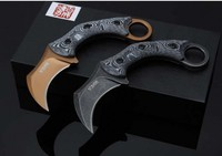 Cool Hunting Karambit Knife CS GO Counter Strike D2 blade Fighting Survival Tactical Knife Claw Camping knives Tools