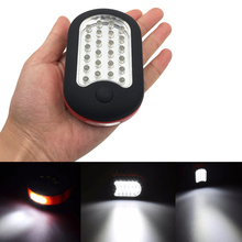 Mini LED Work Flashlight Portable  Hand Torch Light Strong Magnetic Hook Pocket Camping Working