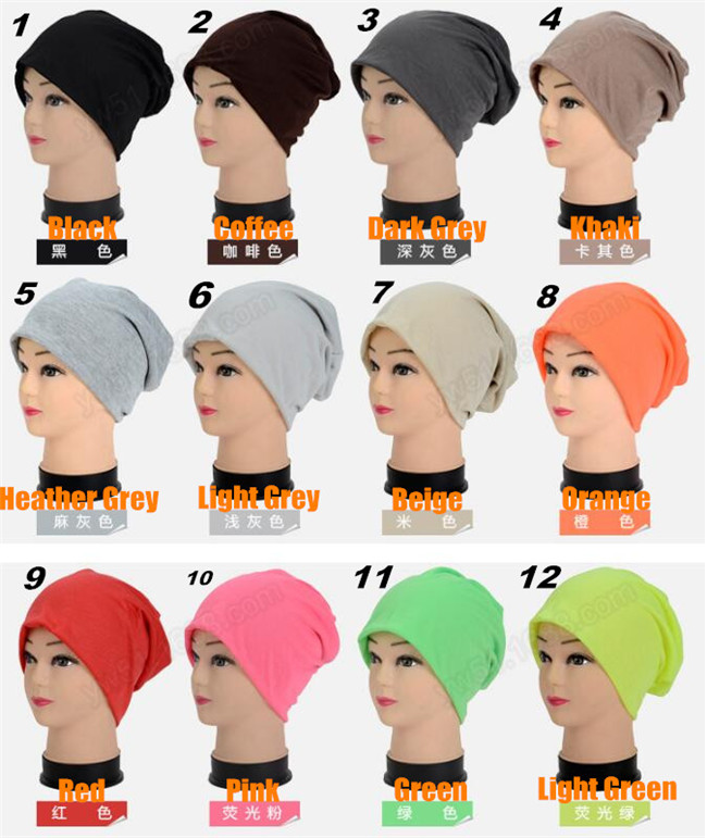 30pcs! Men&Women Beanie Top Quality Solid Color Hip-hop Slouch Unisex Knitted Cap Spring&Winter Snap Slouch Skullies Bonnet Hat