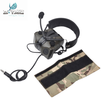 Z Tactical High Configuration Version Noise Cancelling Comtac II Headset With Silicone Sponge Earmuffs Airsoft Headphone Z044