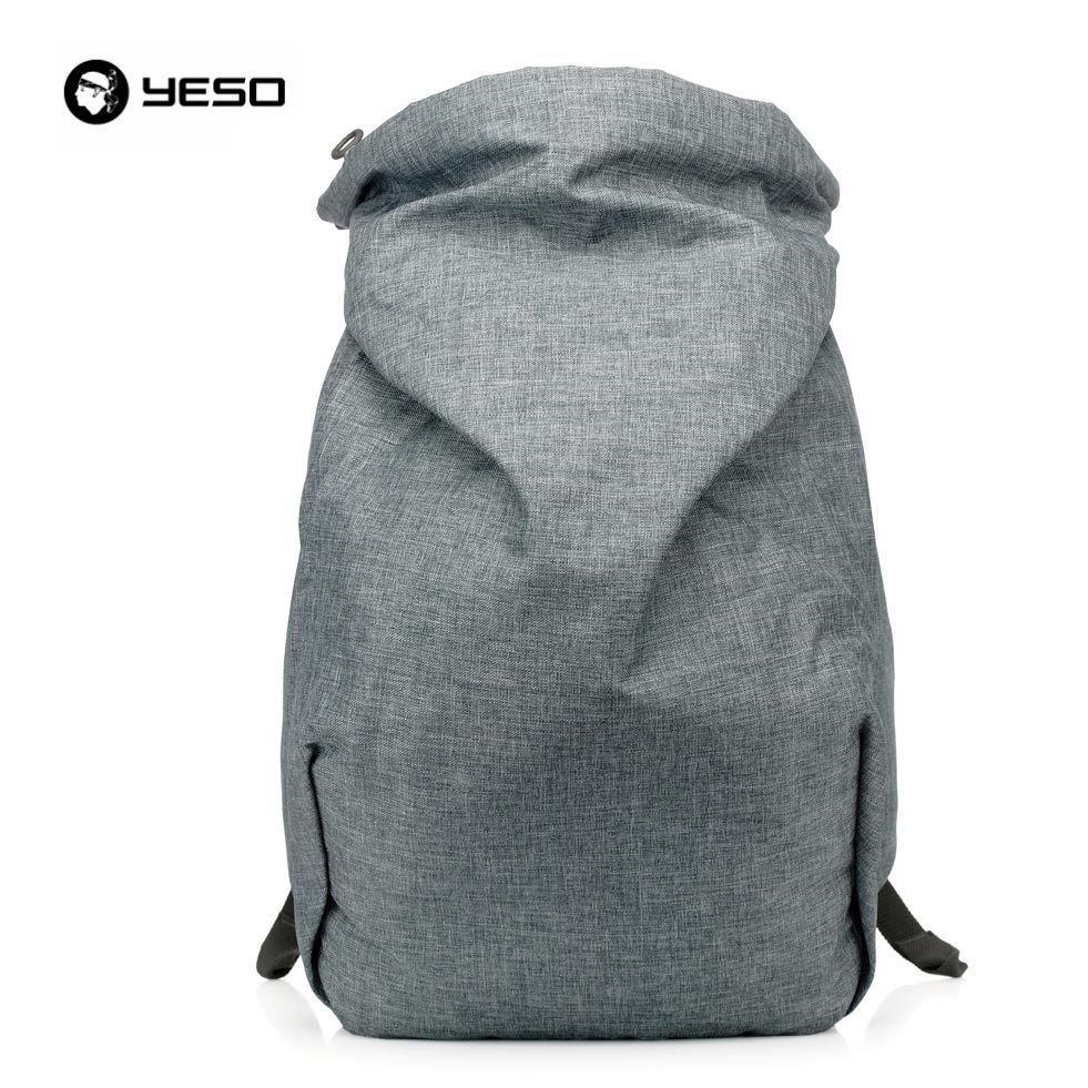 YESO Fashion Style Casual Korean Outdoor Nylon Laptop Compartment Backpack for Men School Teenager Stylish Backpacks Boys Girls bag