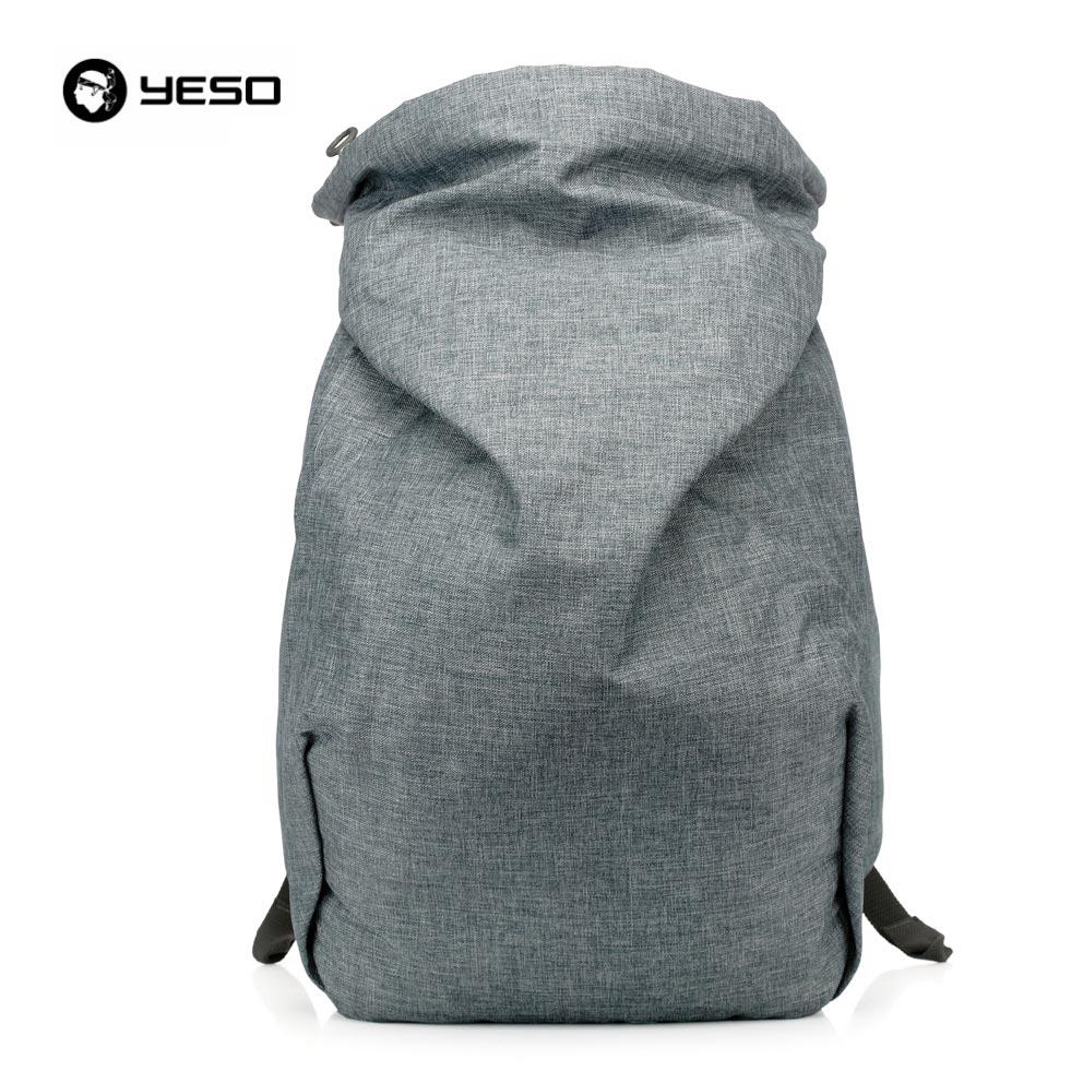 Laptop bags korea - Yeso Merek Fashion Korea Gaya Kasual Korea Pria Nilon Laptop Ransel Sekolah Remaja Bergaya Ransel Laki