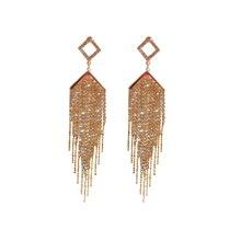 Rhinestone Tassel Earrings for Women Crystal For Luxury Jewelry Long Dangle Earring Party Gift
