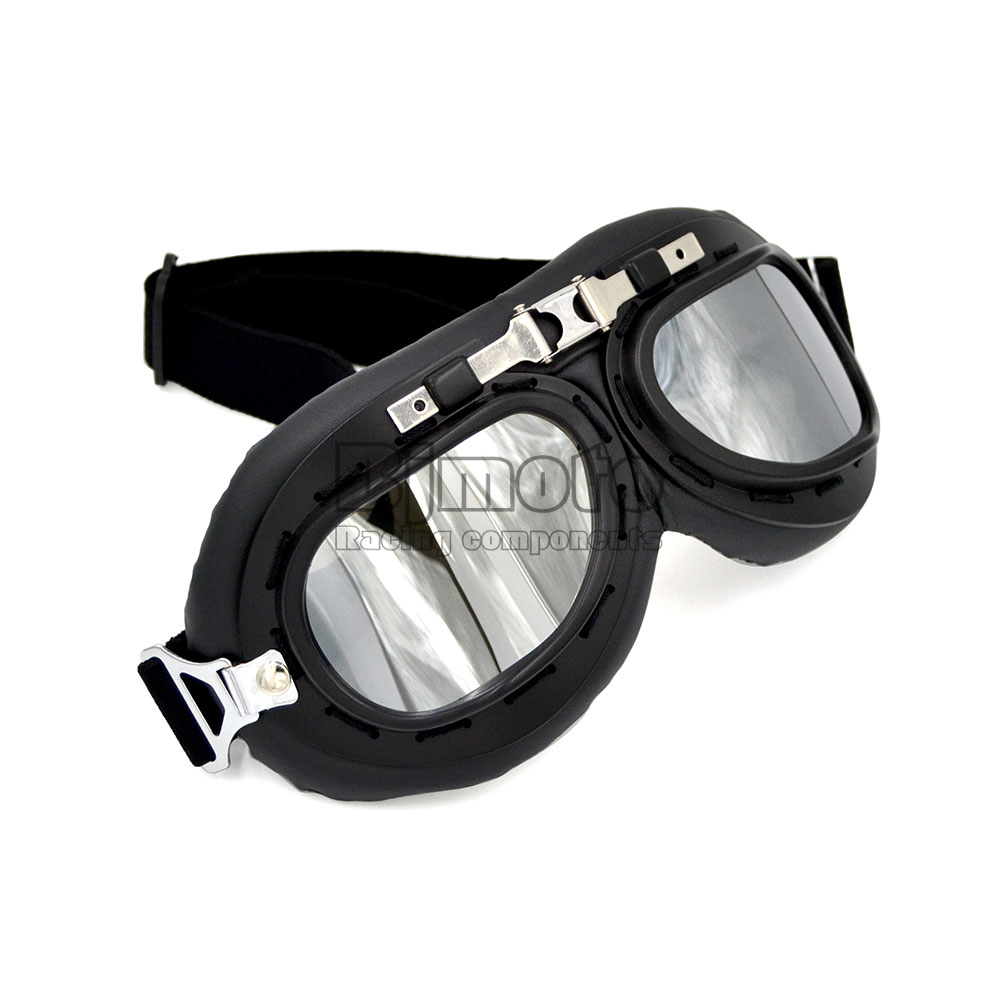 BJMOTO Motorcycle Glasses Vintage Motocross Classic Goggles Steampunk Retro Aviator Pilot Moto Cross Gafas Oculos art east 16110 магнит гипсовый коза овца эк в асс