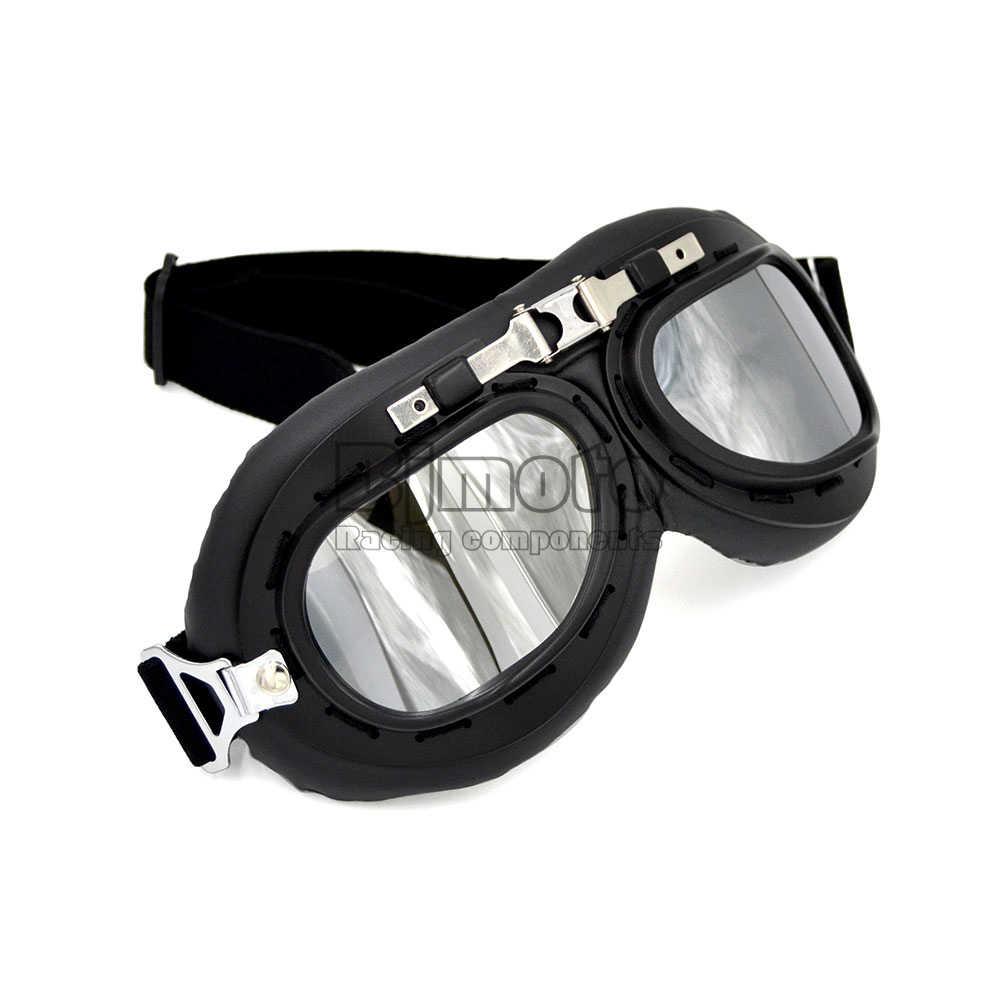 BJMOTO мотоцикл очки пыленепроницаемые анти-УФ мотокросса классические очки стимпанк Ретро Авиатор Пилот мото крест Gafas Oculos