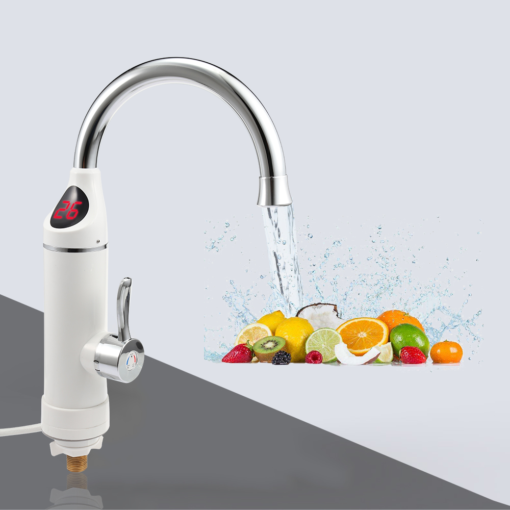 Instant Electric Water Heater Faucet Tap Kitchen Faucet Portable Hot Water Heating 220v 3000w EU Plug electric water heater led digital kitchen faucet tap instant heating kitchen au plug household 220v 3000w