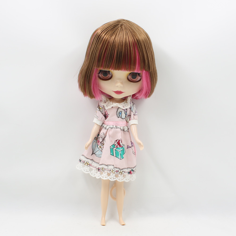 Darmowa wysyłka Nude Blyth Doll brązowy mix czerwona róża shor włosy normalne ciało 130BL2476/0543 w Lalki od Zabawki i hobby na  Grupa 1