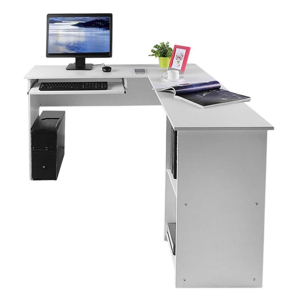 computer furniture home. L Shape Stable Computer Combination Table Desk PC Home Study Office Work Workstation Corner 140*120*74cm -in Laptop Desks From Furniture