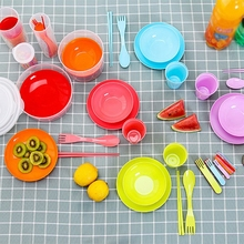 1 Set Plastic Protable Outdoor Camping Tableware Suit Picnic Barbecue Combination Environmental Friendly Children'S Plate