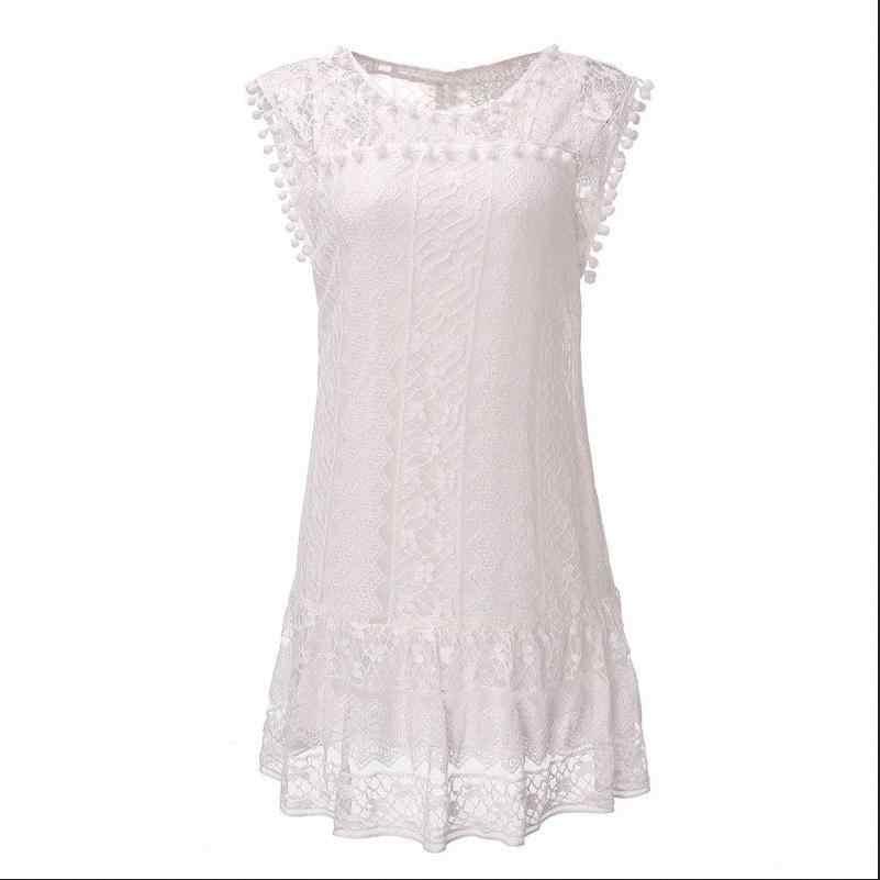 Blanc femmes robe d'été Boho robe courte soirée fête robes de plage robe d'été robe de fée avec dentelle vestidos de verano
