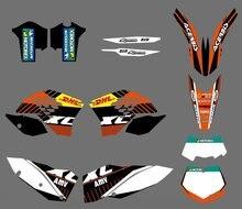 Графика с соответствующими фоны Стикеры для KTM 125 150 200 250 300 400 450 505 530 SX XC SXF XCF xcw SMR excr xcfw xcrw