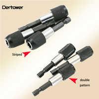 1/4 60mm Hex Shank Quick Release Magnetic Screwdriver Bit Holder Cr-V 6.35mm Batch Head Bit Adaptors Self Lock Extension Rod