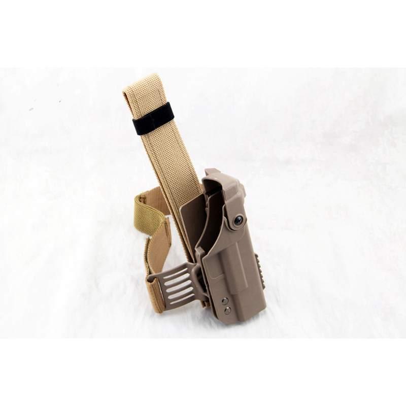 New Arrival GLOCK Double Protective Combat Holster Tactical Military Glock Leg Holster Adjustable Belt Black TAN Color
