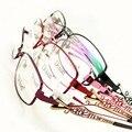 Полый Металлический Узкий Овальный Металл Весь рим Оптический Рецепта ОЧКОВ КАДРЫ Женщин Очки RX Спектакль D9767 Очки
