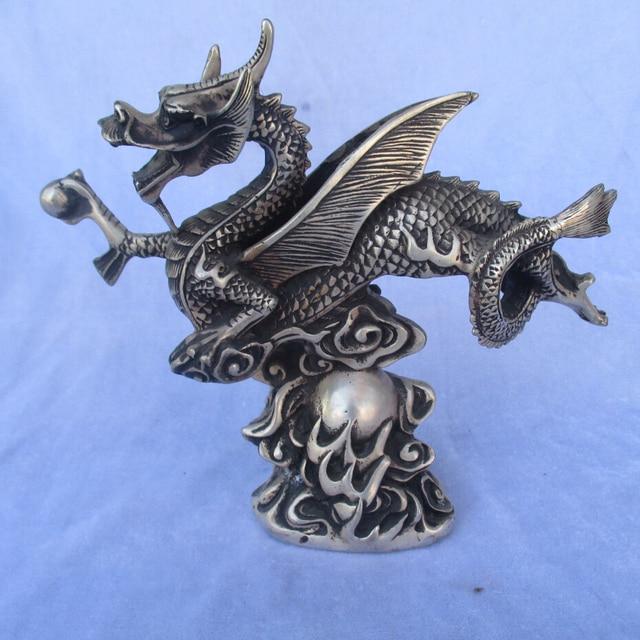 sammeln tibetischen silber geschnitzte flying dragon. Black Bedroom Furniture Sets. Home Design Ideas