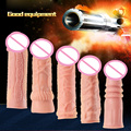 Yeain silicone penis sleeve 5 tyles penis sleeve extender flesh color extendable penis sleeve sex toys for men sex products