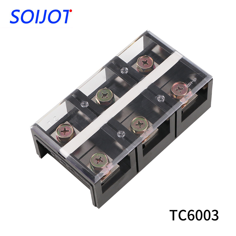 1Pcs.TC6003 Fixed Terminal Double Row Screw Terminal Block Terminal Connector Cable Header .Copper