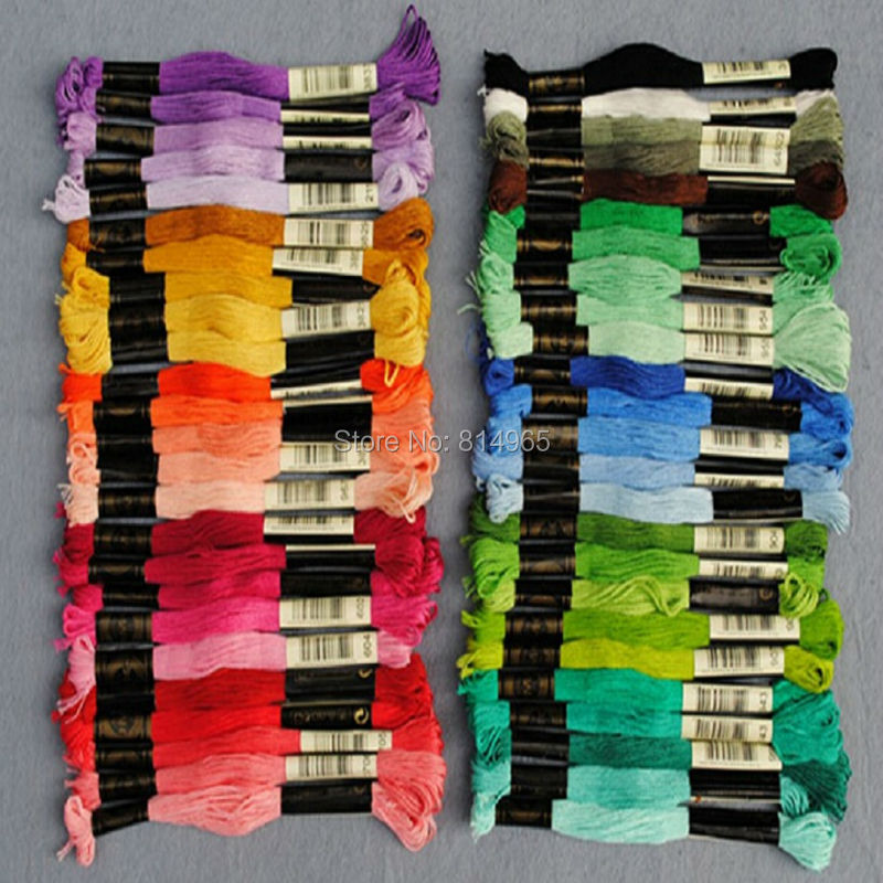 894 Pieces 8 7Yard Length 6 Strands Cross Stitch Floss Thread You Can Choose Any Colors